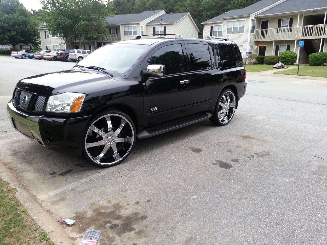 My Baby With Her New Shoes 28s Nissan Armada Infiniti Qx56 Forums