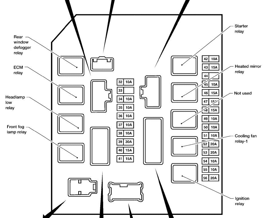 2012 Nissan Armada Fuse Box Diagram