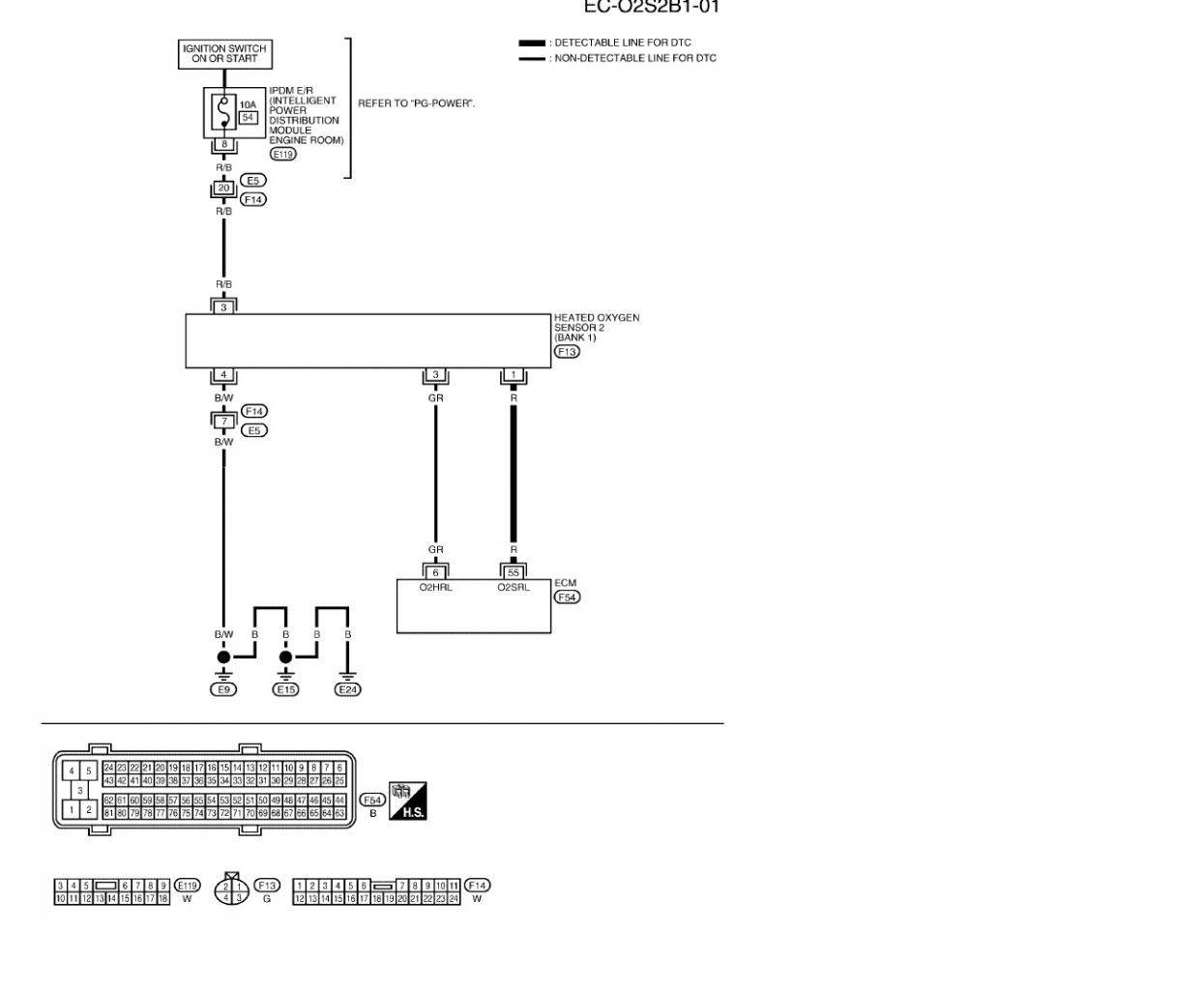 Nissan Oxygen Sensor Wiring Diagram Just Wirings Heated Charming Titan O2 Ford 3 Wire