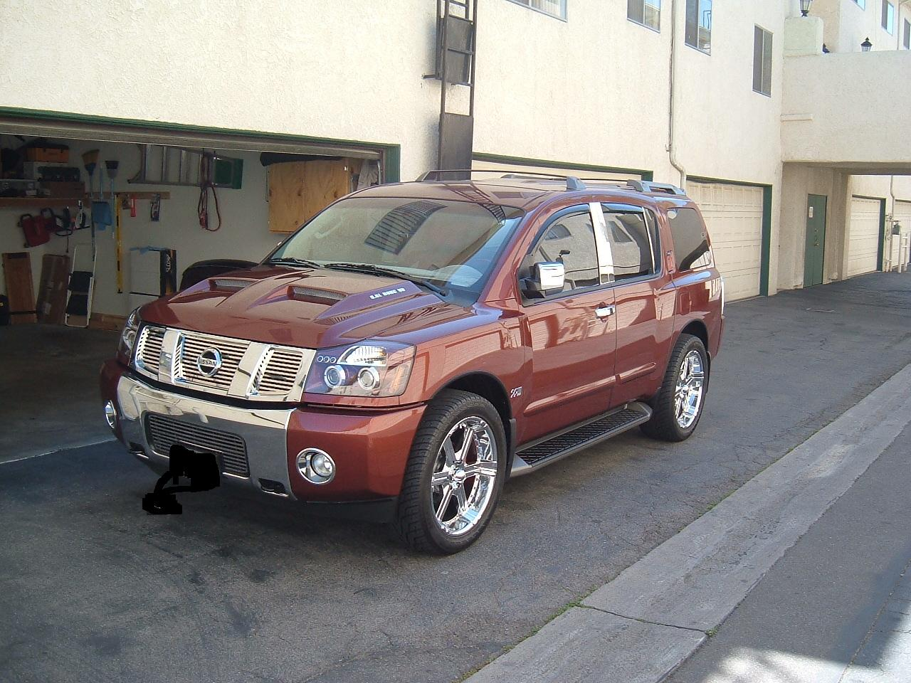 New dual ram air hood painted and installed nissan armada forum click image for larger version name picture 072g views 9559 size vanachro Images